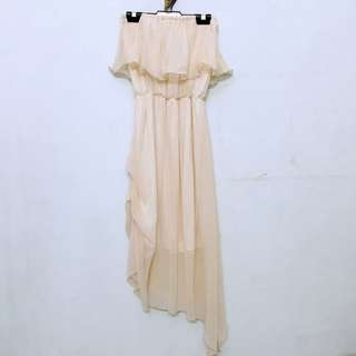 Tube Top Chiffon Dress
