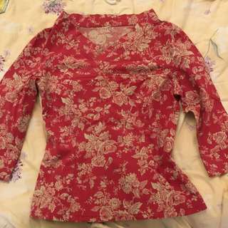 Chinese New Year Lucky Red Blouse