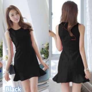 Black Drop Waist Dress