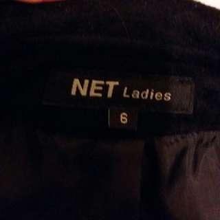 Net 絨布風衣外套