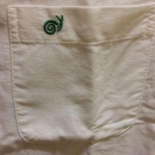 GALLOP 純白短袖襯衫
