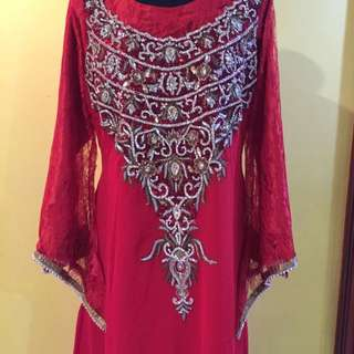 Lace Kaftan with tie-back (A02)