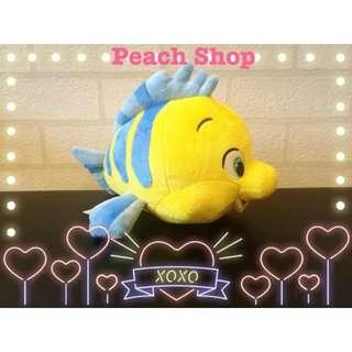 【桃子小舖 ♥ P.S 】美國Disney Store 小美人魚裡的小比目魚玩偶10英吋 現貨