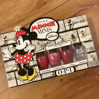O.P.I (Minnie Mouse)迷你指甲油組合