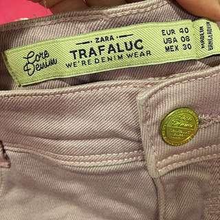 (全新)Zara 莓紫色龐克短褲