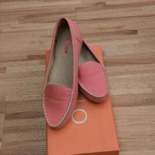 Zucca粉橘色平底鞋