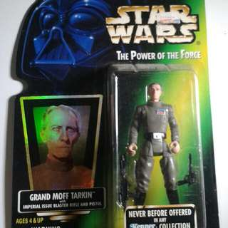 Star Wars Power Of The Force Grand Moff Tarkin Action Figure Sealed