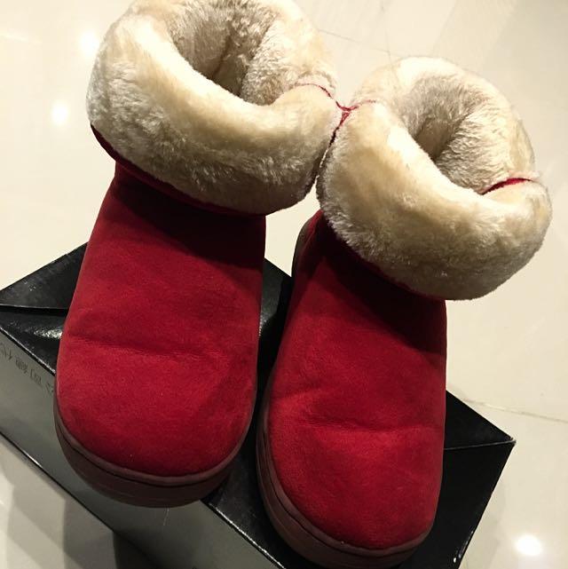 雪靴(紅色36號)