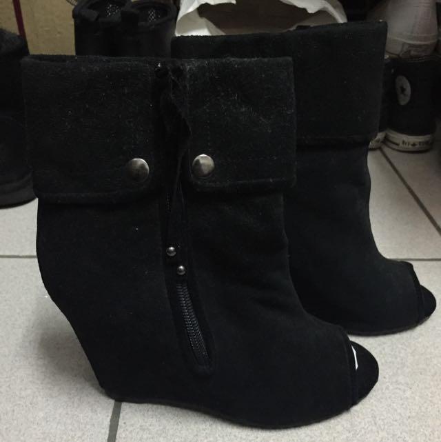 魚口楔型靴