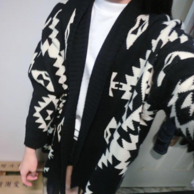 黑色針織罩衫(含運)