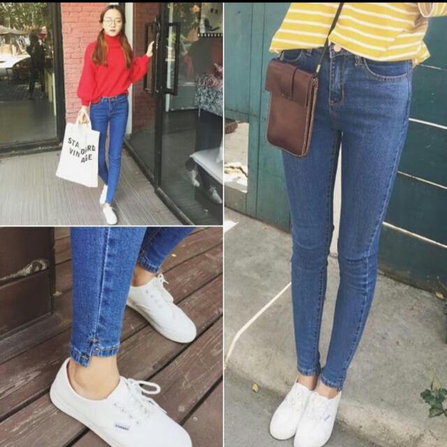 韓版牛仔小腳鉛筆褲