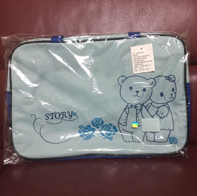 情侶熊旅行袋