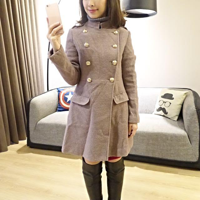 軍裝風傘狀外套