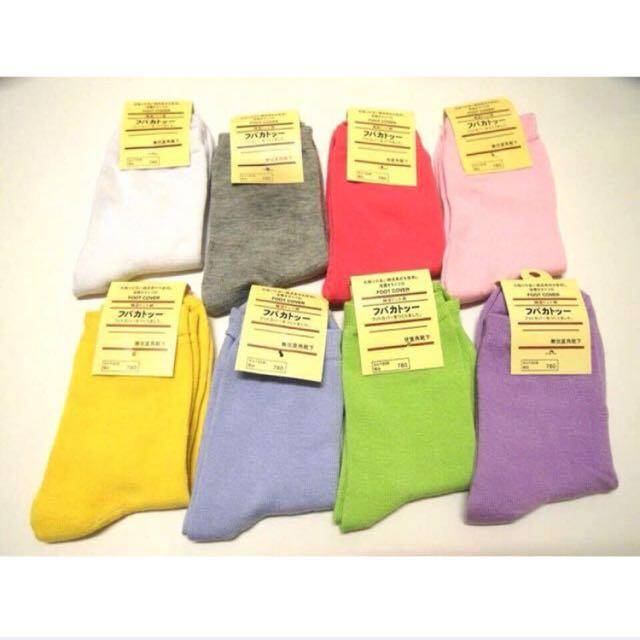 百搭的透氣素色長襪