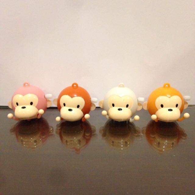 💛猴子發條玩具