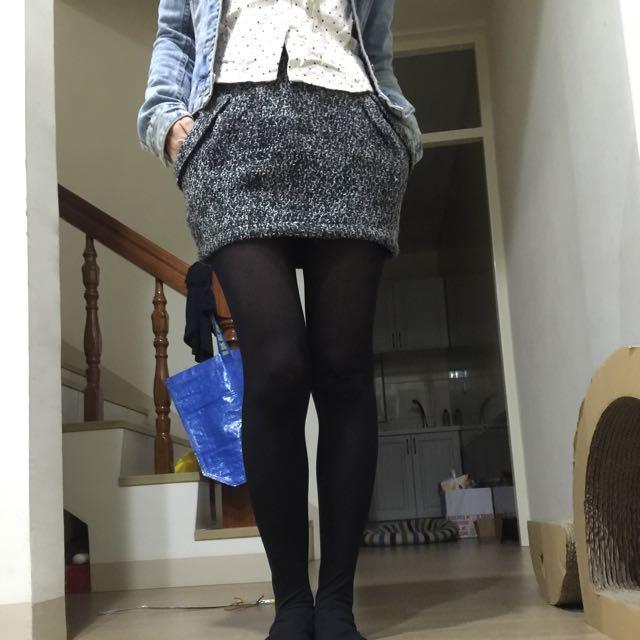 精品毛料短裙