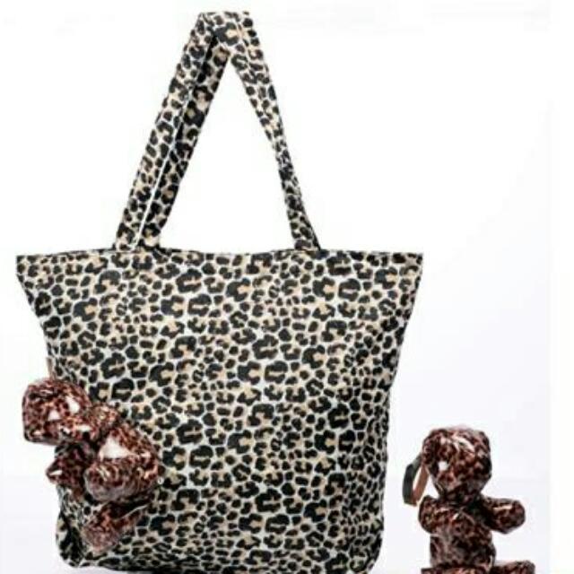 全新 現貨   皮革甜蜜熊購物袋