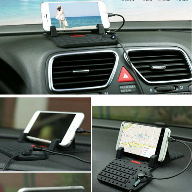 [手機配件] Remax 車用防滑通用充電支架墊/磁吸充電支架