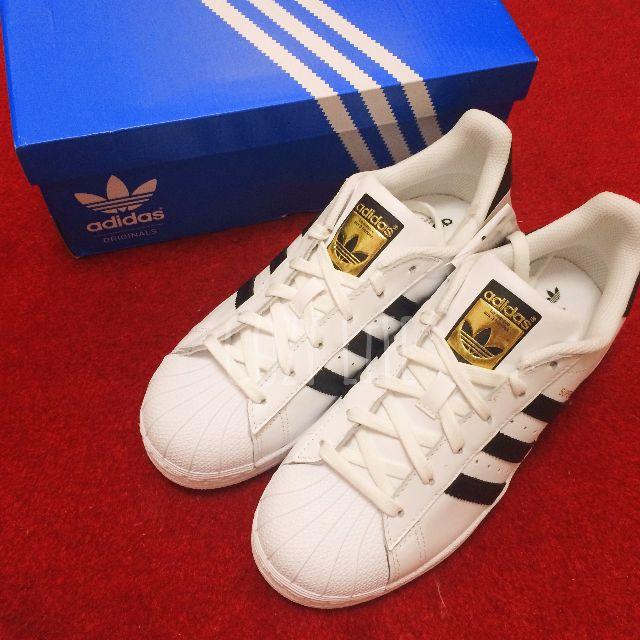 《英國代購》Adidas Originals Superstar 黑線 金標 100%正品