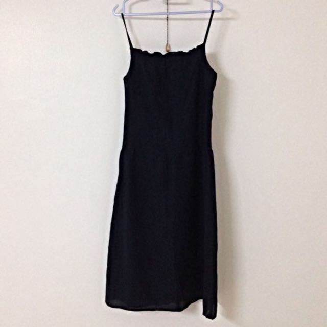 Black Spaghetti Dress