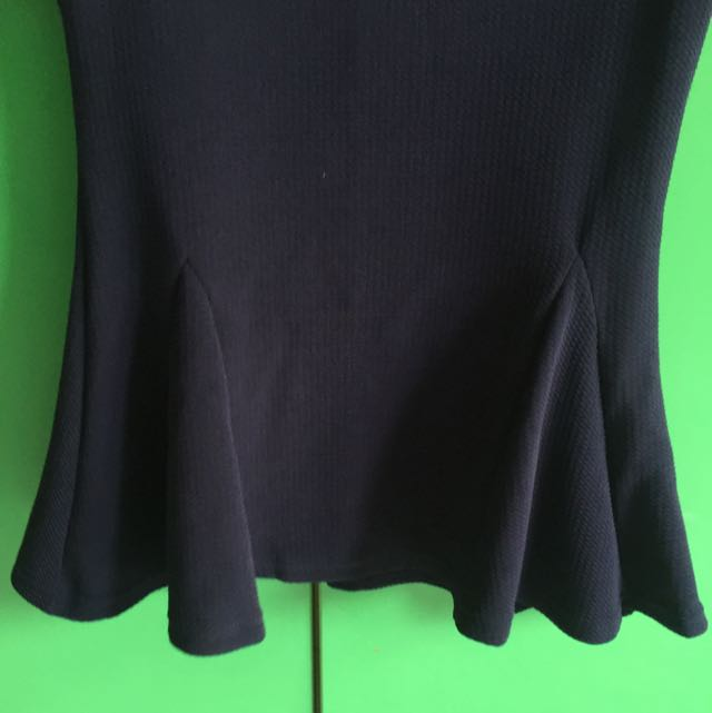 Peplum Top Dark Blue