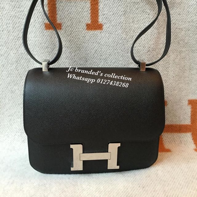 acce1fcea83a BN.hermes Constance 24 Black Epsom Phw Stamp T
