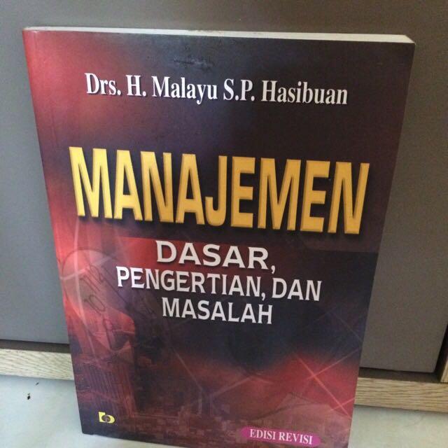 buku manajemen/ manajemen dasar, pengertian dan masalah