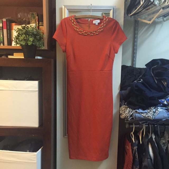 Burnt Orange Queens Park Dress!