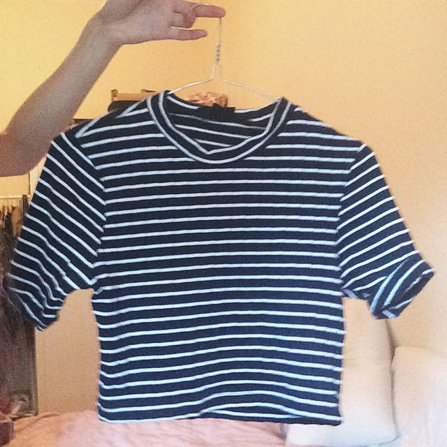 Cropped Stripy Top