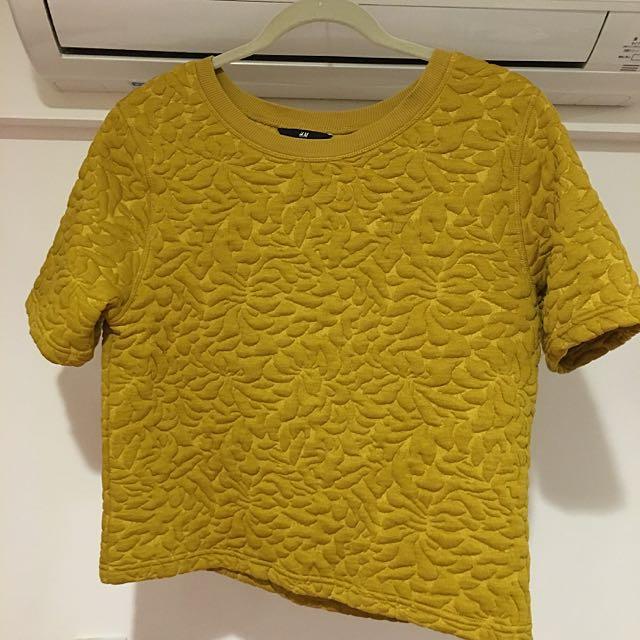(二手)H&M芥末黃上衣
