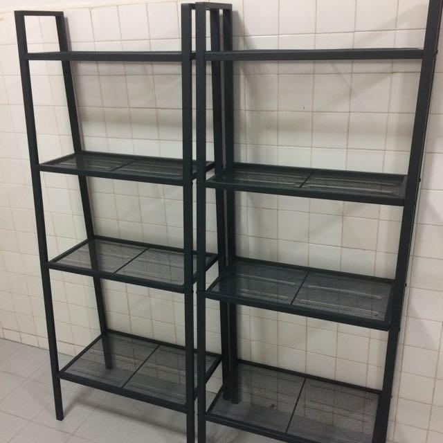 IKEA Lerberg Shelf (black) -used, Furniture On Carousell