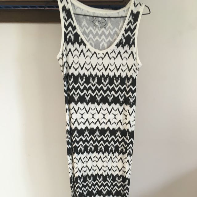 Mavi Black White Maxi Dress