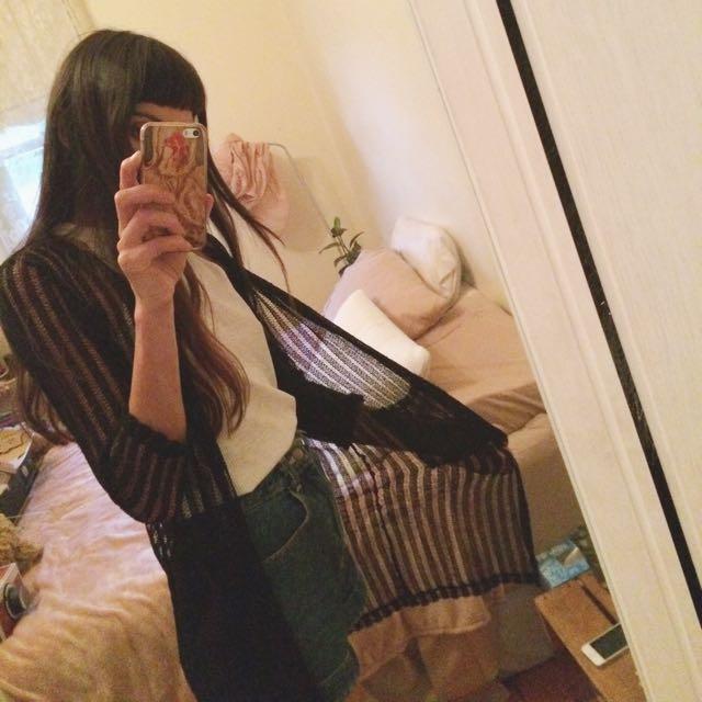 Mesh Stripe Jacket