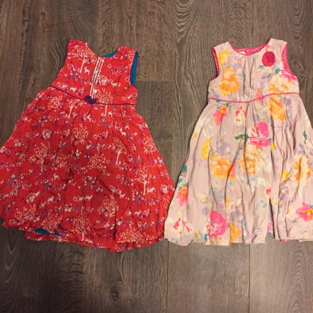 Monsoon 2-3yr 小女生二手洋裝(2件)