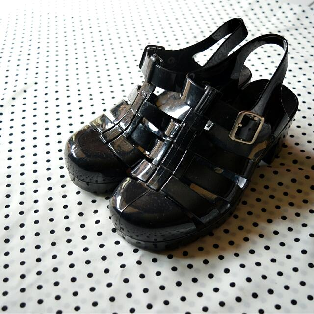 Preloved Black Jelly Shoes