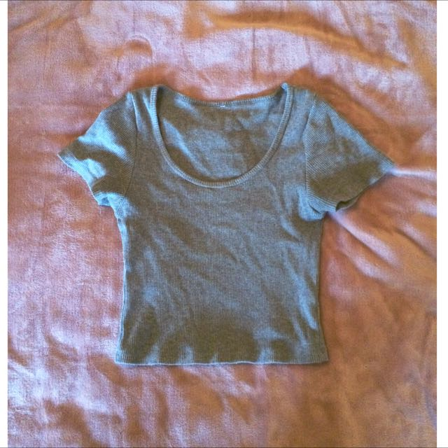 Small Grey Cropped Top