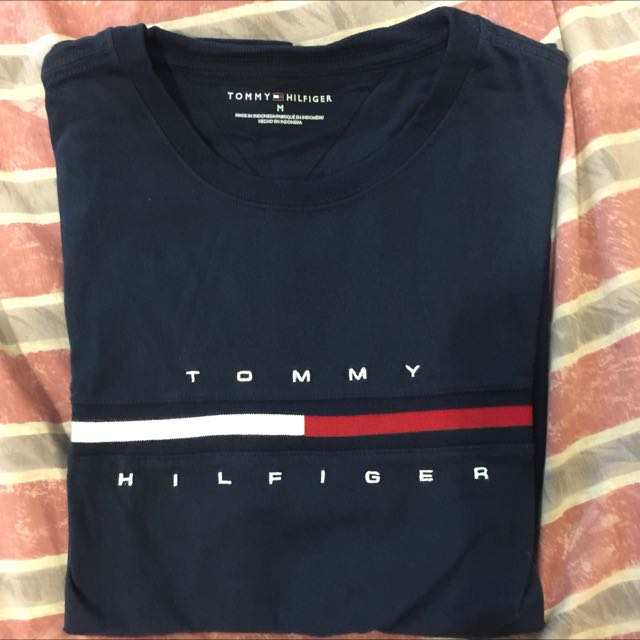 Tommy 短袖 短t 棉 T-shirt 男 深藍