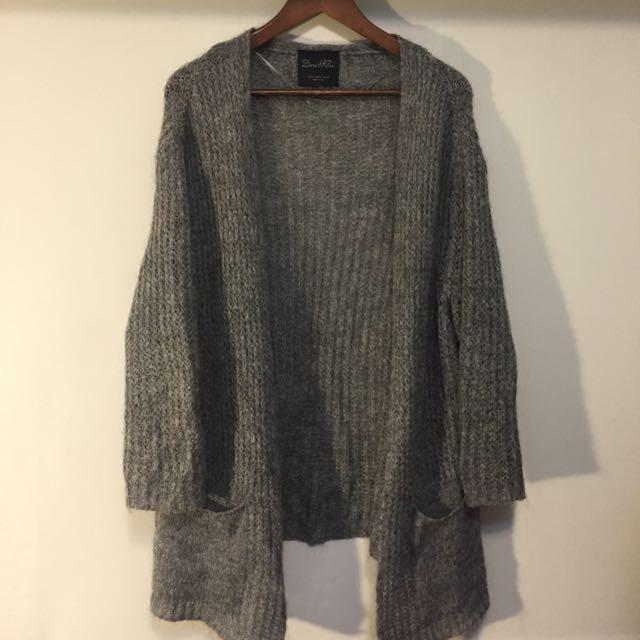 ZARA 混羊毛針織開襟外套