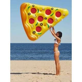☀Chi's shop~☀ 現+預 巨型披薩 漂浮墊 披薩游泳圈 造型泳圈 海邊 沙灘 充氣PIZZA浮板 接急單