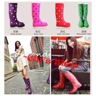 ☀Chi's shop~☀ 全新內刷毛 好搭配 紅點點38號雨靴 便宜出清