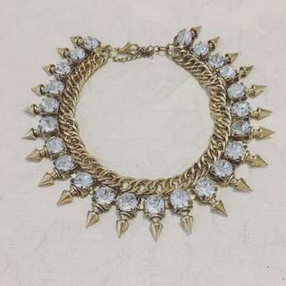 Spikey Gem Necklace 4 FOR $10