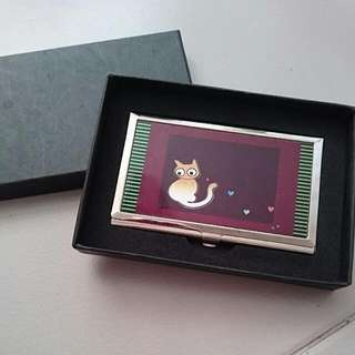 BN Cat Name Card Case Holder With Box