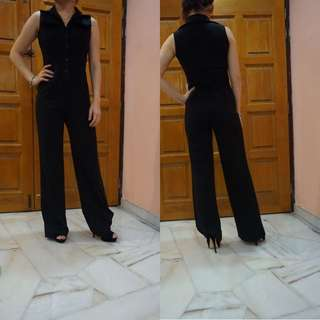 BRAND NEW Black Buttoned Jumpsuit