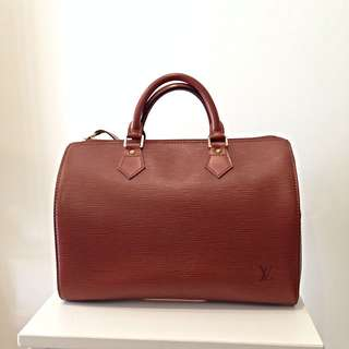 Louis Vuitton Speedy 30 Brown Epi Leather