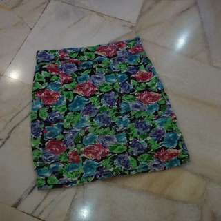 PRE LOVED cotton On Floral High Waist Skirt