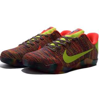 NIKE AIR ZOOM KOBE 11 ZK XI新款彩虹編織 科比11代籃球鞋 男鞋