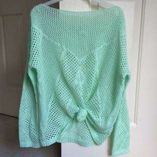 Supre Oversized Airtex Mint Knit