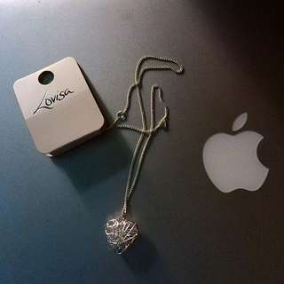 LOVISA Wire Heart Necklace