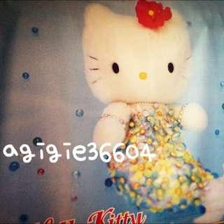 日本 三麗鷗 Hello Kitty 凱蒂貓 布質掛軸大海報-珍珠美人魚