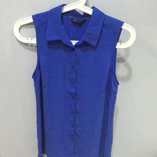 New Look chiffon top (cobalt blue)